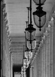 Gallery street lamps in Paris Stock Images