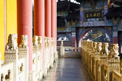 Gallery in the temple Stock Image