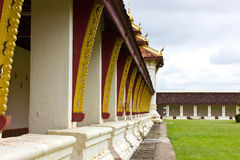 The Gallery from Thad Luang Pagoda in Vientiane Royalty Free Stock Images