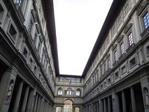 Gallery Uffizi one of the oldest museums stock images