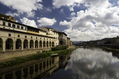 Gallery Ufizzi shooted from Ponte Vecchio Royalty Free Stock Photo