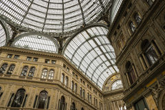 Monumental shopping Gallery Umberto in Naples, Ita Royalty Free Stock Photography