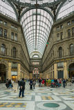 Gallery Umberto people shopping Naples, Italy Royalty Free Stock Images