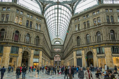 Gallery Umberto people shopping Naples, Italy Stock Photo