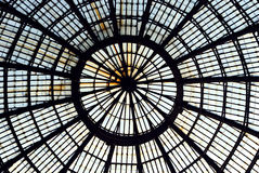 Gallery Umberto Uno in Naples roof Stock Photo