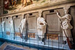 Gallery at the Vatican Museum in Rome, Italy Stock Photo