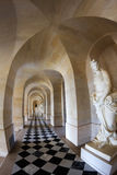 Gallery in Versailles Palace. Gallery with statues in the Versailles Palace Chateau,  France Stock Photo