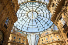 Gallery Vittorio Emanuele II, the ceiling Stock Photo