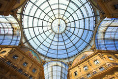 Gallery Vittorio Emanuele II, the ceiling Royalty Free Stock Photo