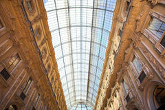 Gallery Vittorio Emanuele II, the ceiling Royalty Free Stock Photos