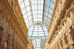Gallery Vittorio Emanuele II, the ceiling Stock Image