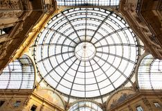 Gallery Vittorio Emanuele II, Milan Stock Photo