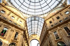 Gallery Vittorio Emanuele II, Milan Royalty Free Stock Photos