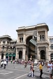 Gallery Vittorio Emanuele II in Milan Stock Photos