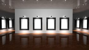 Gallery wall Stock Photo