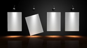 Gallery wall Royalty Free Stock Image