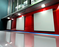 Gallery Wall Red stock illustration