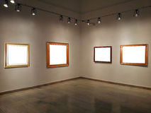 Gallery walls with blank frames Royalty Free Stock Image