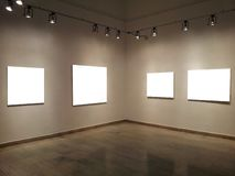 Gallery Walls With Blank Frames Stock Photo