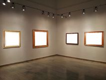 Gallery Walls With Blank Frames Royalty Free Stock Images