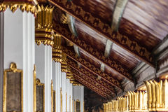 Gallery in Wat Phra Kaew Stock Photography