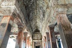 Gallery way at the Angkor Thom Stock Photos