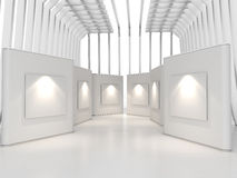 Gallery white Stock Photos