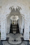 Gallery in White temple in Chiang Rai, Thailand Royalty Free Stock Image