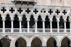 Gallery windows of the Doge's Palace Stock Photography