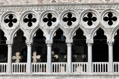 Gallery windows of the Doge's Palace Royalty Free Stock Photo