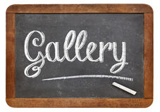 Gallery word on blackboard Stock Image