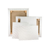 Gallery wrapped blank canvas on wooden frame - stretcher bar stock images