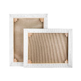 Gallery wrapped blank canvas on wooden frame - stretcher bar royalty free stock image