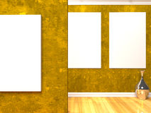 Gallery yellow Royalty Free Stock Images