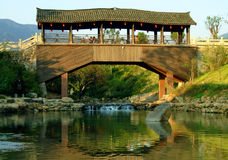 Gallerybridge in China royalty-vrije stock afbeeldingen