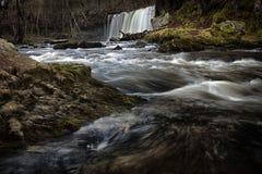 Galles del sud delle cascate di Sgwd Ddwli Uchaf Immagini Stock Libere da Diritti