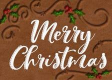 Galleta Art Merry Christmas Graphic imagen de archivo