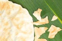 Galleta asada a la parrilla indígena del arroz Imagenes de archivo