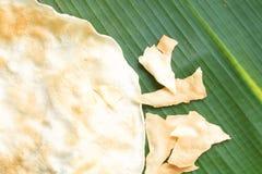 Galleta asada a la parrilla indígena del arroz Imagen de archivo