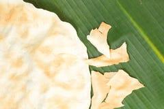 Galleta asada a la parrilla indígena del arroz Fotografía de archivo