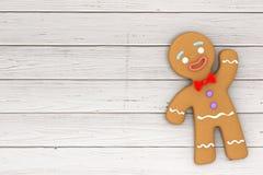Galleta clásica adornada día de fiesta del hombre de pan de jengibre representación 3d fotos de archivo