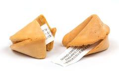 Galleta de fortuna china Imágenes de archivo libres de regalías