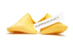 Galleta de fortuna de la felicidad Fotografía de archivo