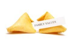 Galleta de fortuna de valores familiares Fotografía de archivo libre de regalías