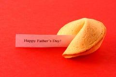 Galleta de fortuna del día de padre Imágenes de archivo libres de regalías