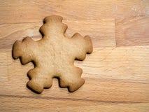 Galleta de la estrella del pan de jengibre de la Navidad imagen de archivo libre de regalías