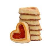 Galleta de la forma del corazón Foto de archivo