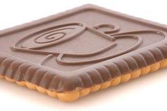 Galleta de la mantequilla cubierta con el chocolate Foto de archivo
