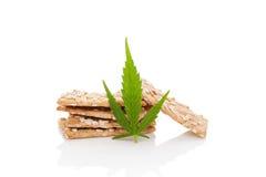 Galleta de la marijuana imagenes de archivo
