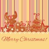 Galleta de la Navidad Imagenes de archivo